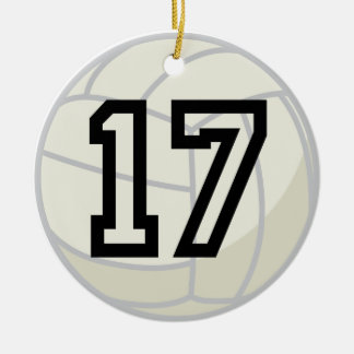 Volleyball Player Uniform Number 17 Ornament