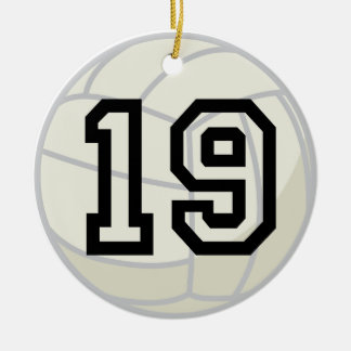 Volleyball Player Uniform Number 19 Ornament