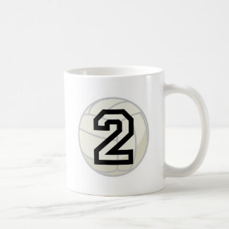 Volleyball Player Uniform Number 2 Gift Mugs