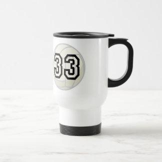 Volleyball Player Uniform Number 33 Gift Travel Mug