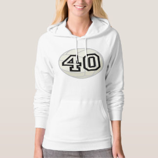 Volleyball Player Uniform Number 40 Gift Hoodie