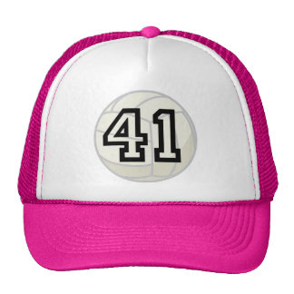 Volleyball Player Uniform Number 41 Gift Mesh Hat