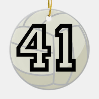Volleyball Player Uniform Number 41 Gift Christmas Ornaments