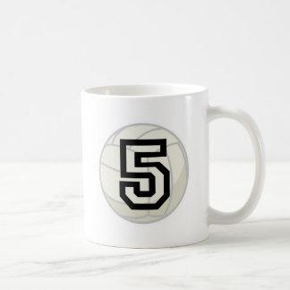Volleyball Player Uniform Number 5 Gift Coffee Mug