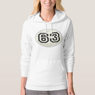 Volleyball Player Uniform Number 63 Gift Hoodie