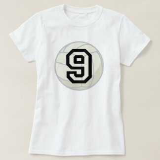 Volleyball Player Uniform Number 9 Gift Tee Shirt