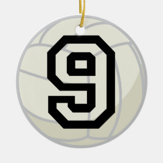 Volleyball Player Uniform Number 9 Ornament