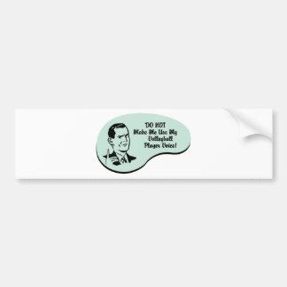 Volleyball Player Voice Bumper Sticker