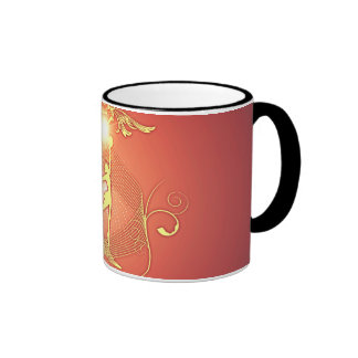 Volleyball player with awesome light effects ringer mug