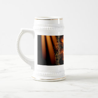 Volleyball player with awesome light effects 18 oz beer stein