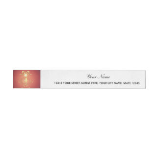 Volleyball player with awesome light effects wraparound address label
