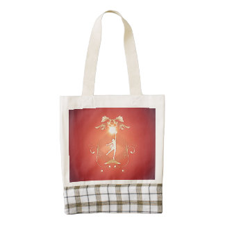 Volleyball player with awesome light effects zazzle HEART tote bag