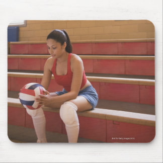 Volleyball player with volleyball mouse pad