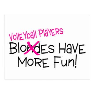 Volleyball Players Have More Fun Postcard