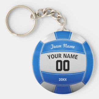 Volleyball Player's Name Year Team Blue Keychain