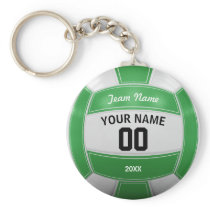 Volleyball Player's Name Year Team Green Keychain