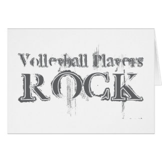 Volleyball Players Rock Card
