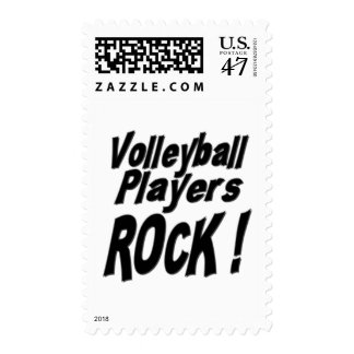 Volleyball Players Rock ! Postage
