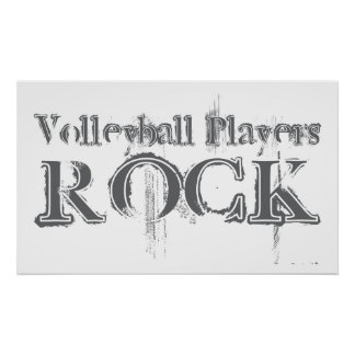 Volleyball Players Rock Poster