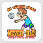 Volleyball Players Square Sticker