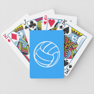 Volleyball Playing Cards Blue