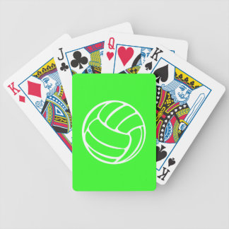 Volleyball Playing Cards Green