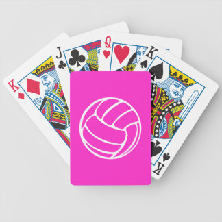 Volleyball Playing Cards Pink
