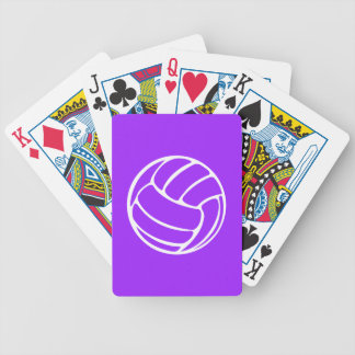 Volleyball Playing Cards Purple