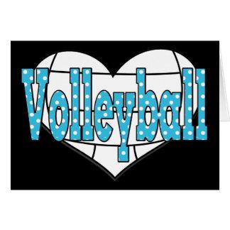 Volleyball Polka Dots Card