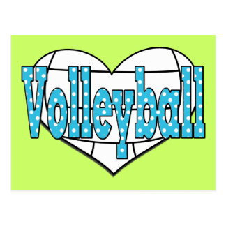 Volleyball Polka Dots Postcard