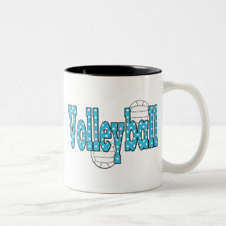 Volleyball Polka Dots Two-Tone Coffee Mug