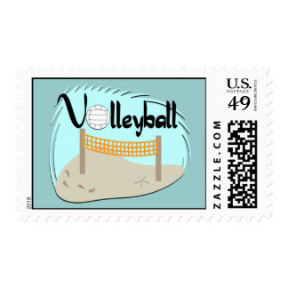 Volleyball Postage Stamps