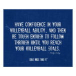 Volleyball Poster 017 - Denim Colors