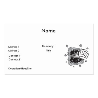 volleyball power Double-Sided standard business cards (Pack of 100)