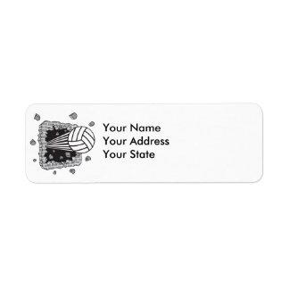 volleyball power return address label