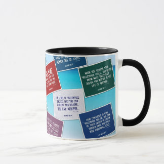Volleyball Quotes Coffee Mug in Colors