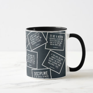 Volleyball Quotes Coffee Mug in Denim Blue
