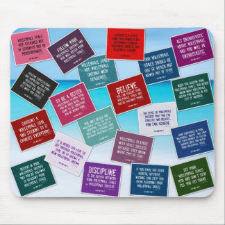 Volleyball Quotes Mousepad in Colors
