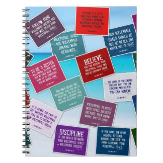 Volleyball Quotes Notebook in Colors