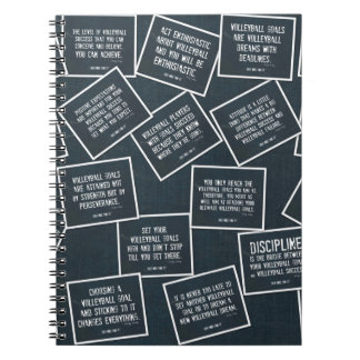 Volleyball Quotes Notebook in Denim Blue