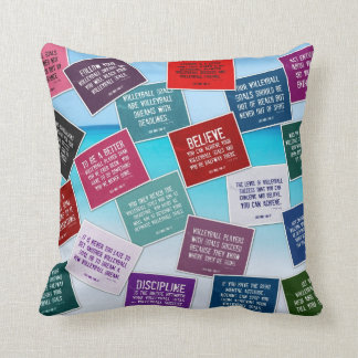 Volleyball Quotes Pillow in Colors