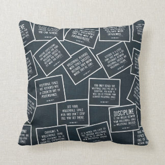 Volleyball Quotes Pillow in Denim Blue
