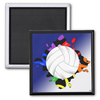 Volleyball Rainbow Splash Magnet