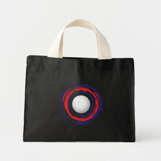 Volleyball Red Blue And White 1 Mini Tote Bag