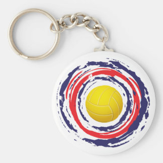 Volleyball Red Blue And White 2 Keychain