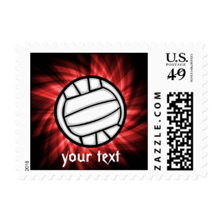 Volleyball; Red Postage Stamps