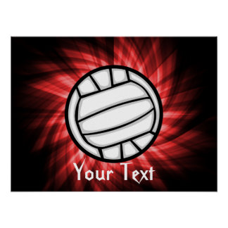 Volleyball; Red Poster