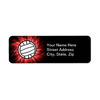 Volleyball; Red Return Address Label
