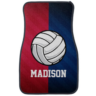 Volleyball; Red, White, and Blue Car Floor Mat