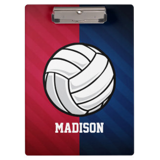 Volleyball; Red, White, and Blue Clipboard